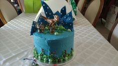 The Good Dinosaur Birthday Cake. Buttercream with Candy Accents.