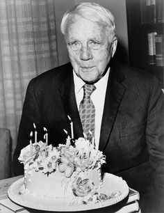 Robert Frost poems, quotations and biography on Robert Frost poet page. Read all poems of Robert Frost and infos about Robert Frost. 85th Birthday, Happy Birthday, Birthday Cake, Ralph Waldo Emerson, Fine Art Prints, Framed Prints, Canvas Prints, Robert Frost Quotes, The Road Not Taken