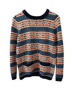 Fake Twin Set Knit Jumper with Detachable Collar