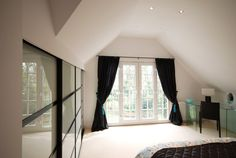 A loft conversions gallery with Mansard, Dormer and interior examples and Loft Conversion Gallery, Dormer Loft Conversion, Loft Conversions, Loft Room, Bedroom Loft, Bungalow Extensions, French Doors, Interior Styling, Architecture