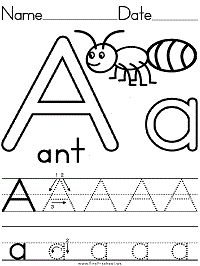 Alphabet Letter A Ant Preschool Lesson Plan Printable Activities and Worksheets - letter crafts preschool alphabet Letter Worksheets For Preschool, Abc Worksheets, Preschool Writing, Preschool Lesson Plans, Preschool Letters, Letter Activities, Handwriting Worksheets, Handwriting Practice, Motor Activities