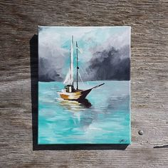 This nautical inspired painting can be placed in bathrooms bedrooms and will bring a beautiful part of the ocean to your home.