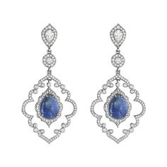 Sapphire Arabesque Earrings by Penny Preville.