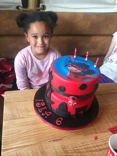 Disneys miraculous lady bug cake