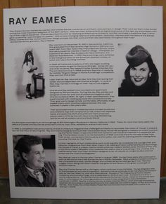Ray Eames panel for lobby display, courtesy of Eames Office