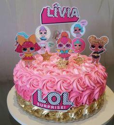 bolos decorados chantininho 8 Doll Birthday Cake, Funny Birthday Cakes, Surprise Cake, Surprise Ideas, Surprise Birthday, 7th Birthday Party Ideas, 5th Birthday, Lol Doll Cake, Doll Party