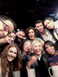Cast of Scandal on Ellen!!!!! :) Kerry Washington, Tony Goldwyn, Jeff Perry, Darby Stanchfield, Joshua Malina, Guillermo Diaz, Bellamy Young, Scott Foley, Katie Lowes. :)