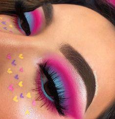 Fabulous Eye Make-up Concepts For You; Smoking Eyes Make-up; Makeup Eye Looks, Eye Makeup Art, Cute Makeup, Eyeshadow Makeup, Maybelline Eyeshadow, Colourpop Cosmetics, Pink Eyeshadow, Eyeshadow Palette, Makeup Brushes