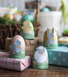 Printable Easter Critter Egg Holders