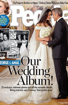 George and Amal on the cover of People magazine. Credit: People Magazine
