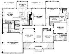 Mark Harbor House Plan # 10025, 1st Floor Plan, Coastal Style ...