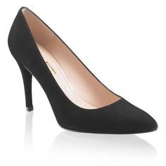 These Stuart Weitzman suede pointed-toe court shoes feature a covered 3 ¾ inches thin stiletto heel and leather sole. Pointed Toe Pumps, Stiletto Heels, Kate Middleton Shoes, Shoes For Less, Russell & Bromley, Princesa Kate, Special Occasion Shoes, Black Suede Pumps, Duchess Of Cambridge