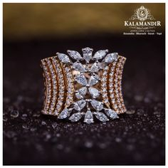 Best Gold, Diamond & Platinum Jewellery Showroom Brands in India Best Diamond Rings, Round Diamond Engagement Rings, Diamond Bangle, Diamond Jewellery, Jewelry Design Earrings, Designer Earrings, Gold Ring Designs, Fashion Rings, Jewels