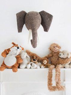 Boudie and Fou animal heads – just hangin' around!
