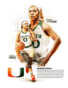 Miami Women's Basketball Sophomore Mailer on Behance Miami Women Basketball Sophomore Mailer auf Behance Basketball Posters, Basketball Quotes, Women's Basketball, Football Posters, Sports Posters, Volleyball, Sports Graphic Design, Freelance Graphic Design, Sport Design