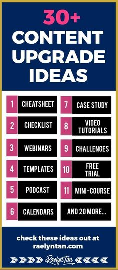 proven content upgrade ideas to grow your email list, with real-life examples! You won't find a better list anywhere else. Content Marketing Strategy, Media Marketing, Marketing Logo, Online Blog, Blog Planner, Blogging For Beginners, How To Start A Blog, Calendar, Email List