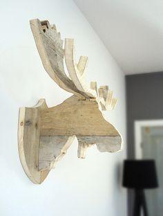 Elandkop 'Henk' van steigerhout | Te koop bij w00tdesign | Flickr