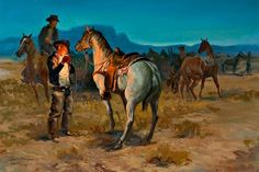 The Crack of Dawn on a Cow Ranch by George Phippen