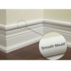 cord cover that looks like part of your molding- looks great! We have a rectangular version of this in our living room, but the rounded is much less conspicuous!