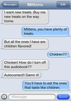 Texts from Mittens: The Autocorrect Edition | Catster (Children Flavored)