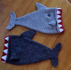 Darleen Hopkins' TJ and Big Mike Sharks. More shark hats for Halos of Hope fundraiser, 2011 charity crochet chemo hat #halosofhope pattern here: http://www.ravelry.com/patterns/library/halos-of-hope-tm-crocheted-shark-hat