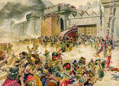 troops of Sargon II take Samaria (722 BC)
