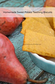 Homemade Sweet Potato Teething Biscuuits