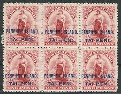 Remote Penrhyn Island in the Cook Islands used overprinted definitives from New Zealand for its first stamps.
