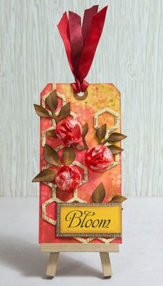 by Elina's Arts and Crafts Card for MMCC August challenge: Bloom http://www.artsandcraftswithlove.com/