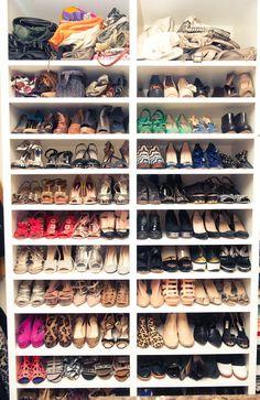 Whitney Port's extensive shoe closet