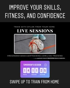 Soccer Training, Training Tips, Improve Yourself, Confidence, Join, Live, Fitness, Youtube, Soccer Coaching