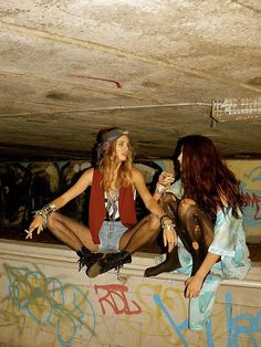 Overpass hangouts...grunge kids hung out smoking cigarettes or stoner kids…