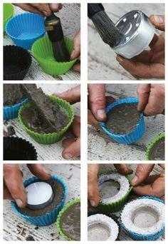 #Teelichthalter für den #Garten lassen sich ganz einfach mit wieder verwendbaren…