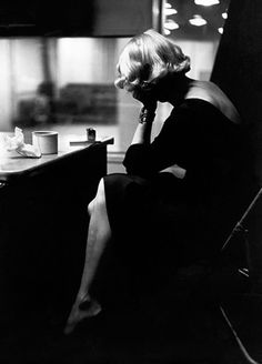 Marlene Dietrich at Columbia Records studio, New York City, 1952. Photo: Eve Arnold.