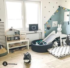 baby zimmer Ball Pool Slide / Mattress - # to # from # to . Toddler Rooms, Baby Boy Rooms, Baby Bedroom, Baby Room Decor, Girls Bedroom, Bedroom Decor, Room Baby, Kids Room Design, New Room