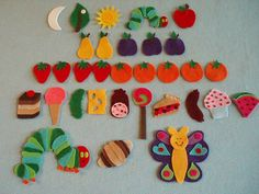 Very Hungry Caterpillar Felt Board Story. For a felt board Flannel Board Stories, Felt Board Stories, Felt Stories, Flannel Boards, Toddler Activities, Activities For Kids, Crafts For Kids, Arts And Crafts, Montessori Toddler
