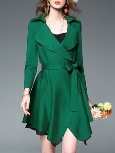 Shop Coats - Work Long Sleeve Asymmetrical Coat online. Discover unique designers fashion at StyleWe.com.