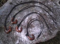 Hawaiian Koa Fish Hook Necklace