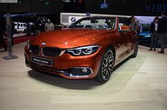 2017 Geneva: BMW 4 Series Convertible facelift in Sunburst Orange - http://www.bmwblog.com/2017/03/08/2017-geneva-bmw-4-series-convertible-facelift-sunburst-orange/