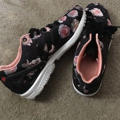 adidas torsion Black and floral Adidas Shoes Sneakers