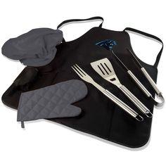 Carolina Panthers BBQ Apron, Grill Tools & Tote