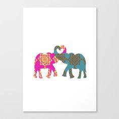Love+Elephants++Canvas+Print+by+Ialbert+-+$85.00