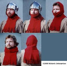 Hood, Fringed style, 15th Century - Click Image to Close