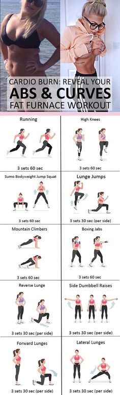 Cardio Burn: Reveal Your Abs and Curves With this Fat Furnace Women's Workout | Posted By: AdvancedWeightLossTips.com