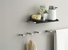 vipp hooks and towel bar - simplicity for the bathroom all fromt the scandinavian design centre Home Design Decor, Interior Design Inspiration, House Design, Home Decor, Bathroom Accessories, Home Accessories, Scandinavian Design Centre, Shower Shelves, Bath Storage