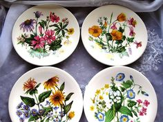 AVON Wedgewood WILDFLOWERS of the United States Set by ChinaGalore, $50.00