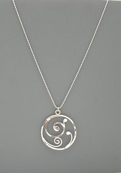 Sterling silver spiral handmade necklace, Rachel Wilder Handmade Jewelry - This elegant pendant is made of sterling silver. I create it by hand starting with straight wire wh - Silver Necklaces, Handmade Necklaces, Sterling Silver Jewelry, Handmade Jewelry, Silver Ring, Silver Earrings, Handmade Headbands, Handmade Soaps, Silver Pendant Necklace