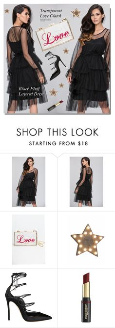 """""""OWNTHELOOKS.com"""" by monmondefou ❤ liked on Polyvore featuring Dsquared2, David Jones, black and ownthelooks"""