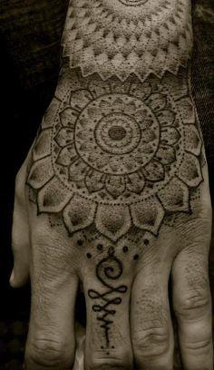 mandala tattoo with unalome