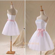 Simple cute organza girls prom/bridesmaid dress by Bebowedding, $119.00